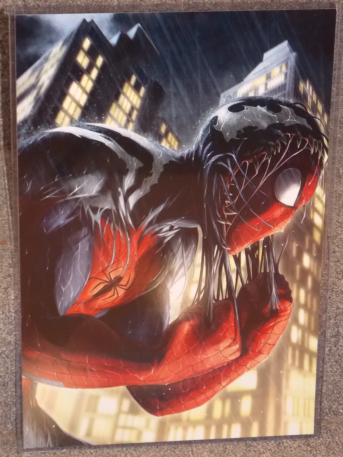 Marvel Spider-Man Glossy Print 11 x 17 In Hard Plastic Sleeve