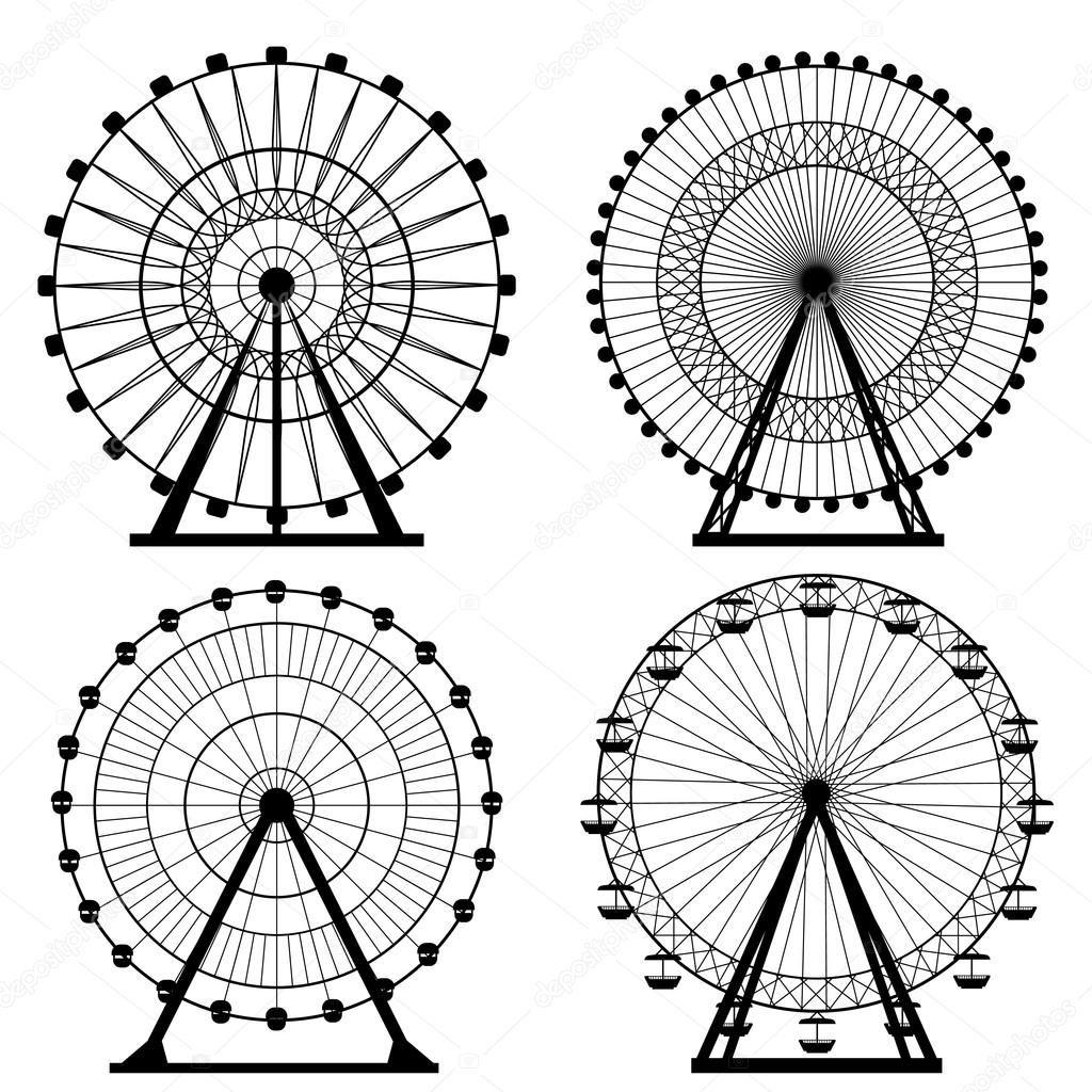 Image Result For Ferris Wheel Illustration Koleso Obozreniya Koleso
