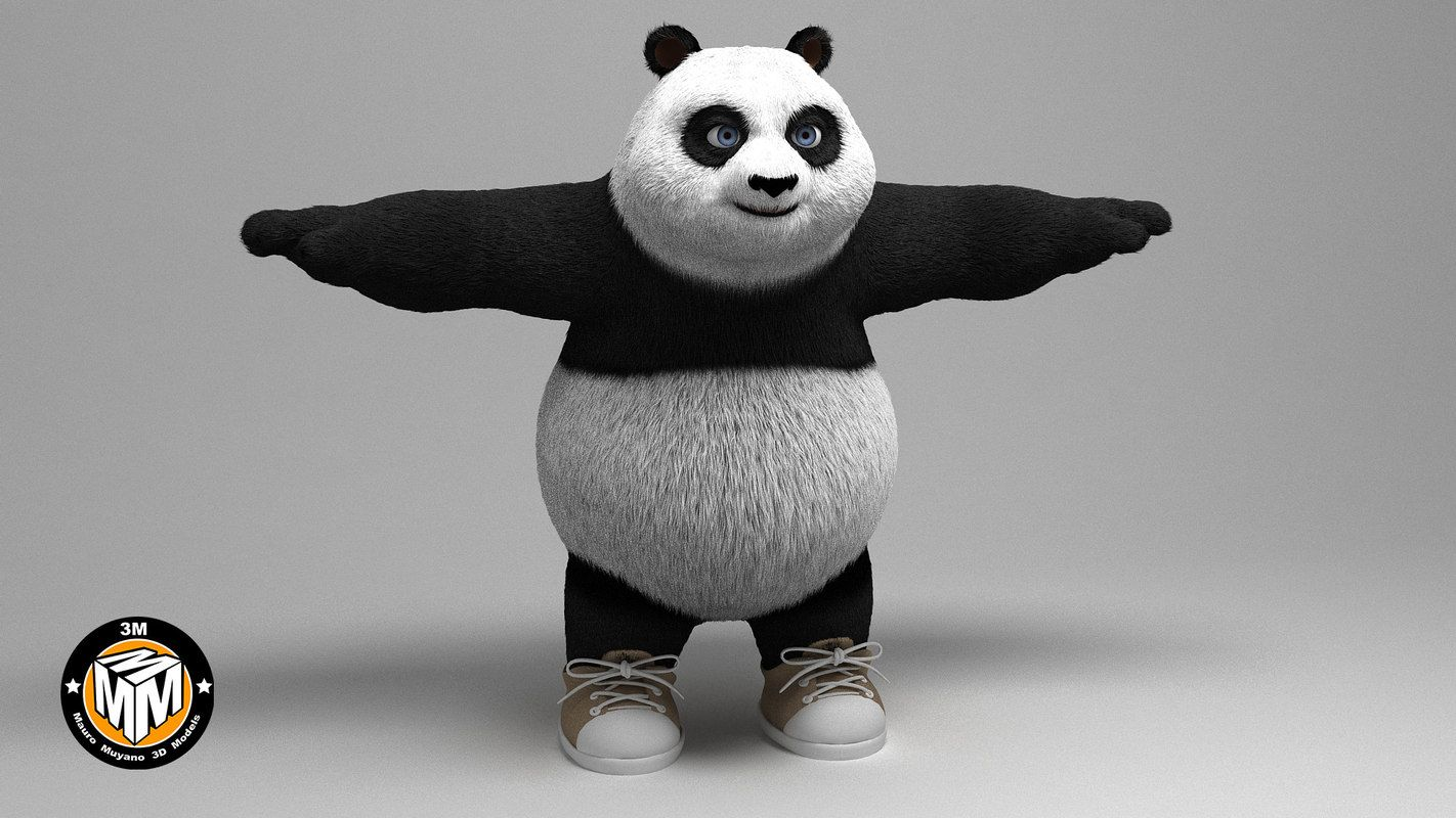 panda 3D model Panda 3d, Panda, 3d model