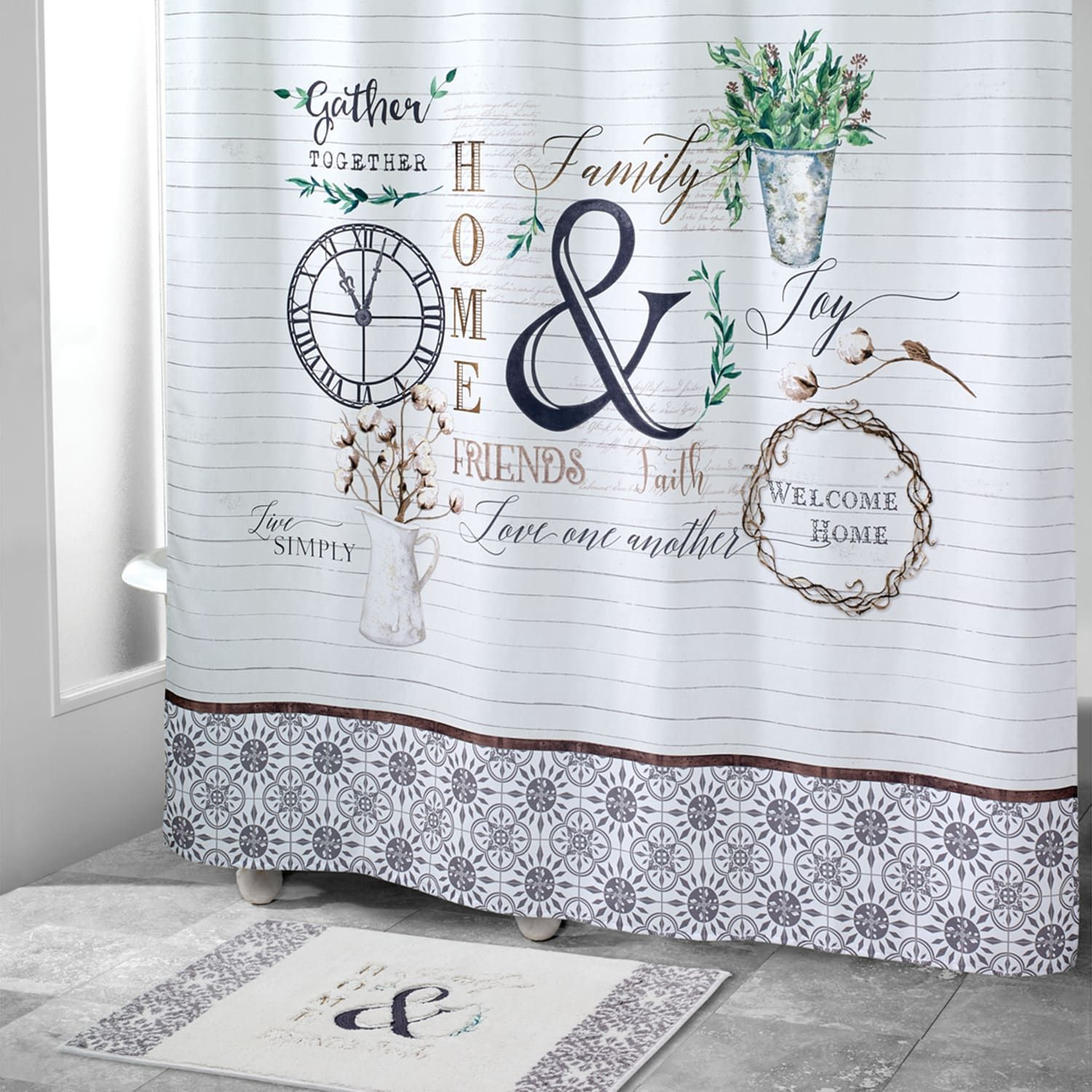 Avanti Modern Farmhouse Shower Curtain Modern Avanti