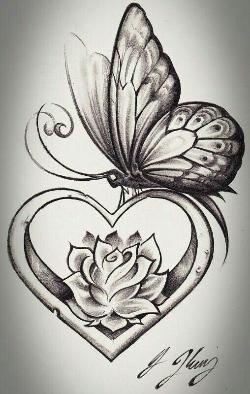 130e4c95d71c3 Flower And Butterfly Tattoos, Butterfly Sketch, Butterfly With Flowers  Tattoo, Lotus Flower,