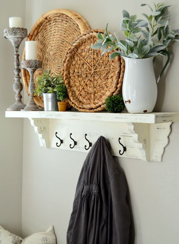 Shelves White Walls And Entry Ways: Home Decor, Entryway Decor, Decor