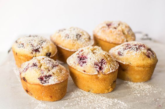Raspberry and Vanilla Bean Friands, a recipe on Food52
