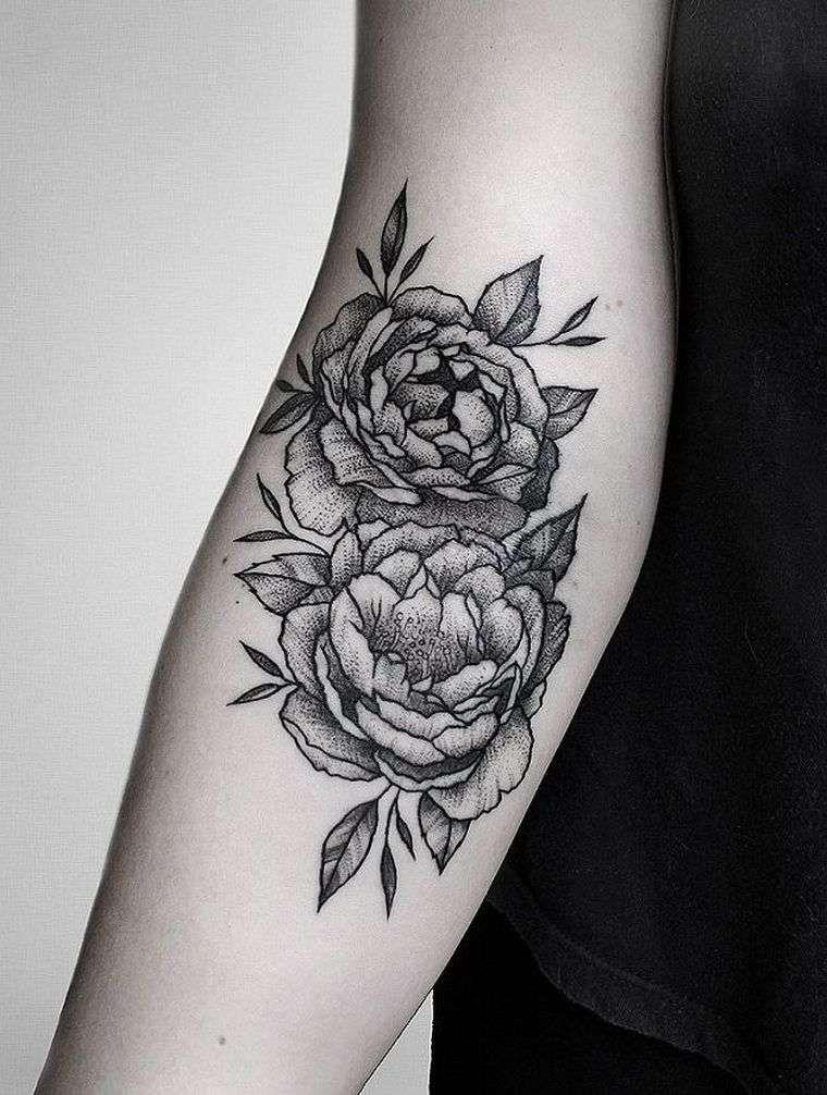 tatouage fleur pivoine , idée de tatouage japonais