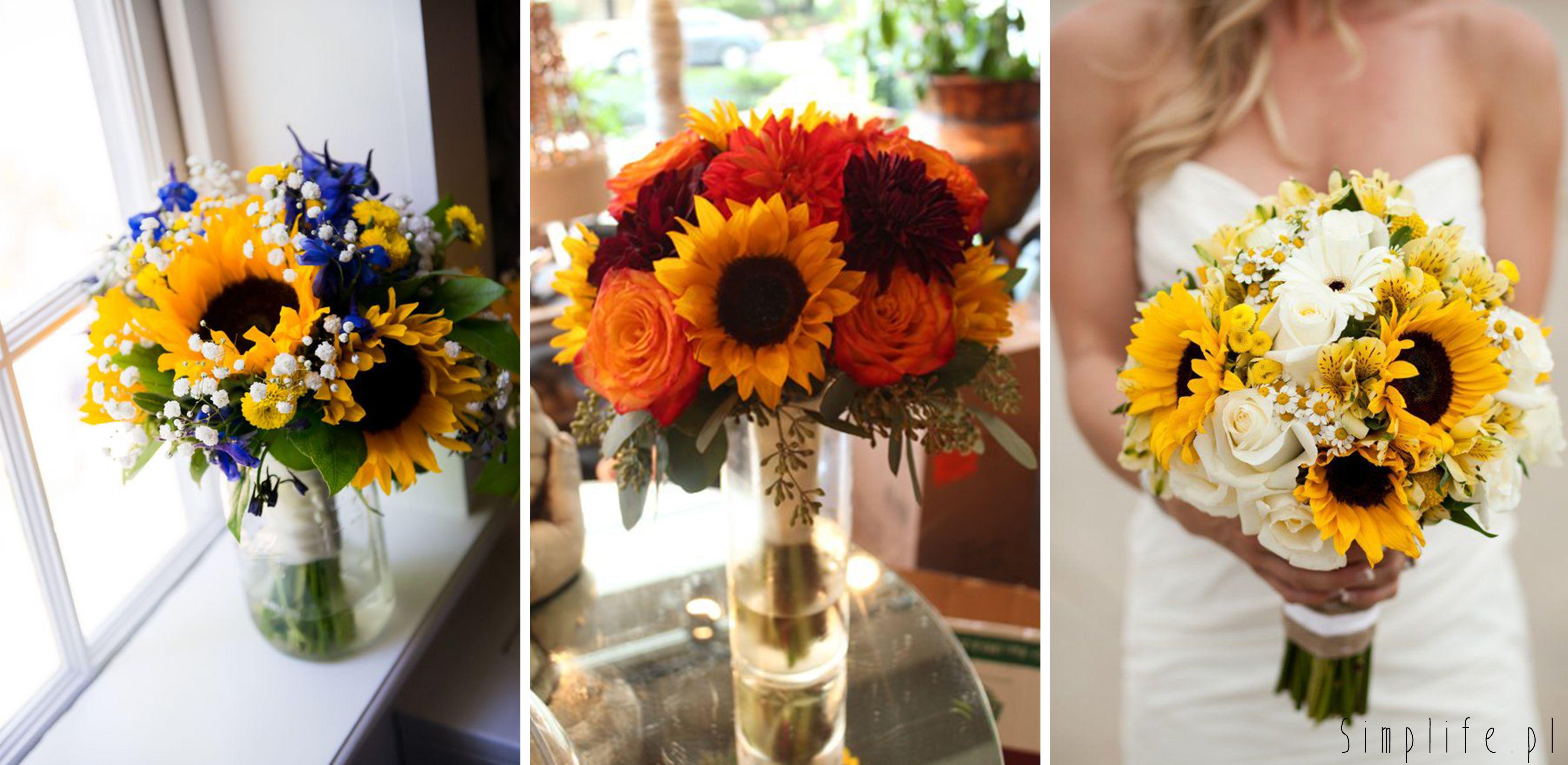 Wesele W Sierpniu Slonecznik W Roli Glownej Simplife Pl Wedding Flowers Table Decorations Wedding