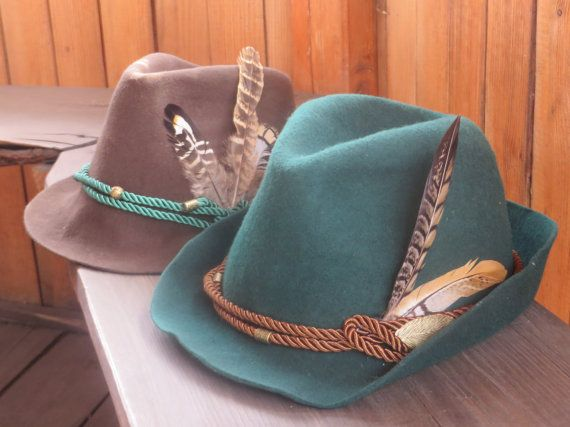 056b1db7a Oktoberfest, Green Tyrolean hat, Felt Hat, Felted Hat, Bavarian Hat ...