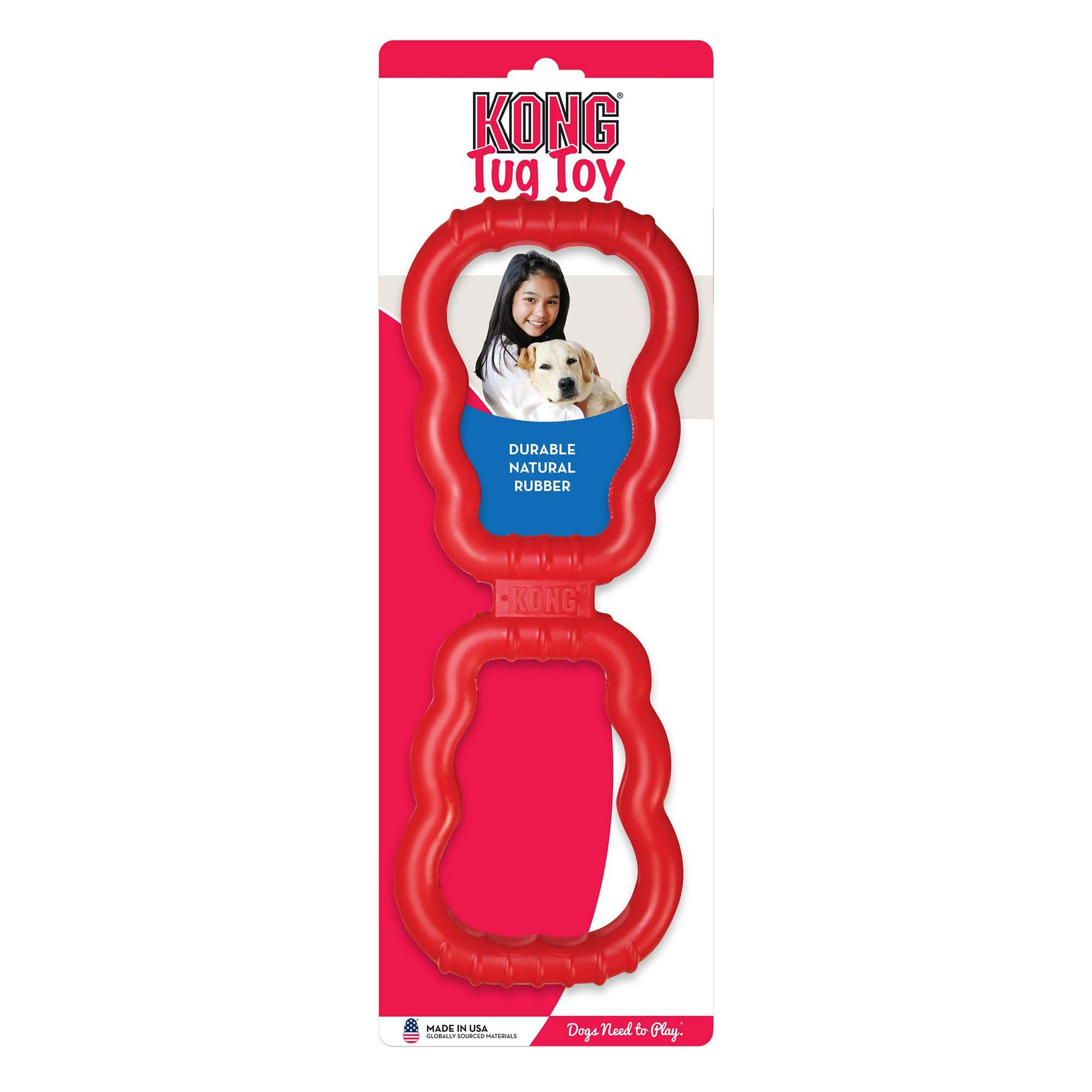 Kong Tug Toy Medium Red Interactive Dog Toys Outdoor Dog Toys
