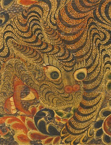 Tibetan Buddhist tiger, a symbol of strength & fearlessness