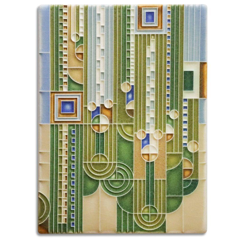 6x8 saguaro green in 2020 tile art art and craft