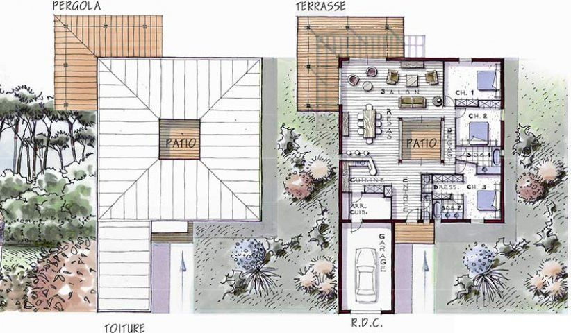 MAISON design 133 m² 3 chambres planos Pinterest Architecture - simulation construction maison gratuit