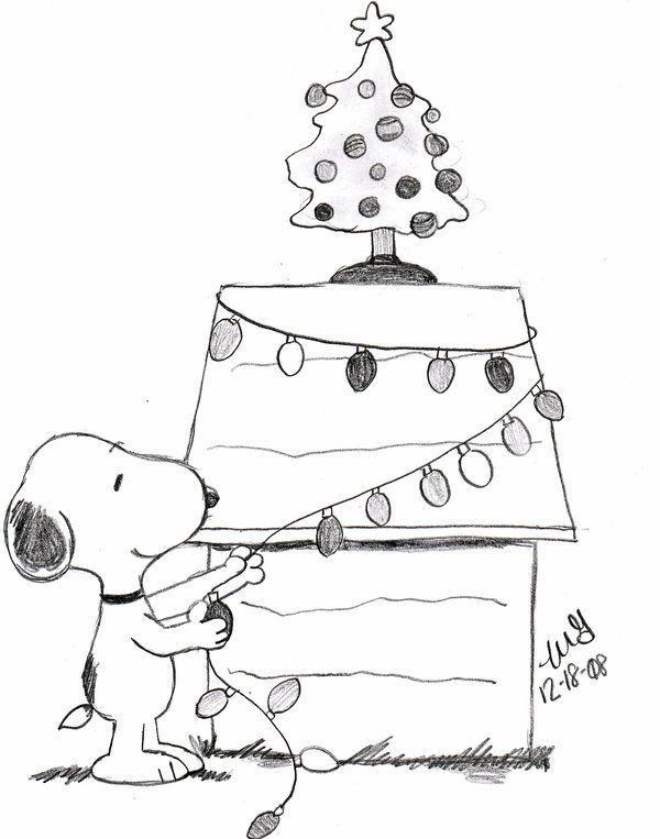 christmas snoopy coloring pages - photo#8