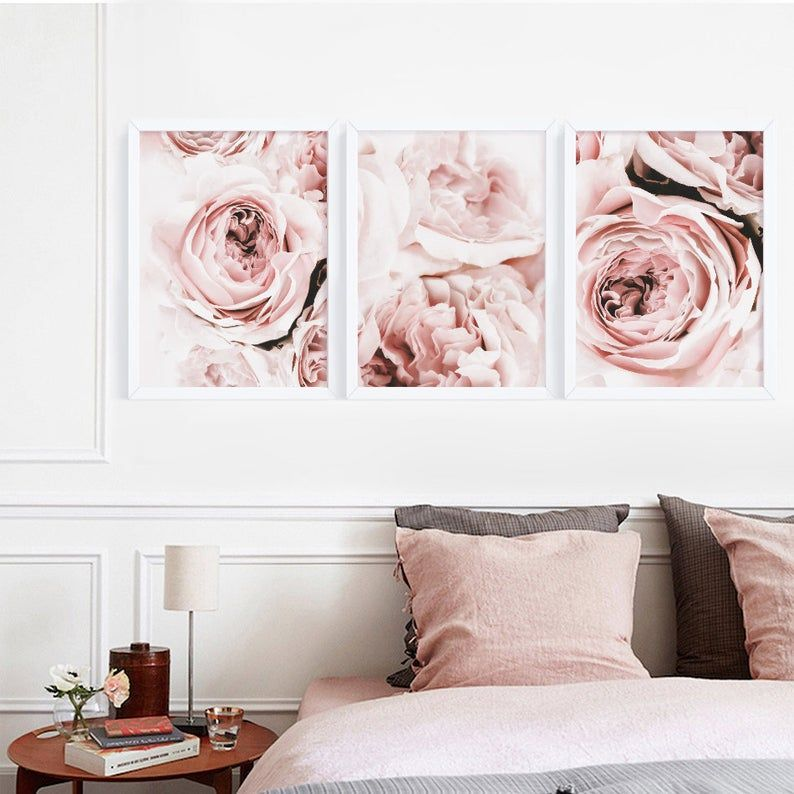 Peony Print Set Of 3 Flower Print Peony Wall Art Blush Pink Etsy In 2021 Floral Wall Art Prints Peony Print Wall Art Canvas Painting