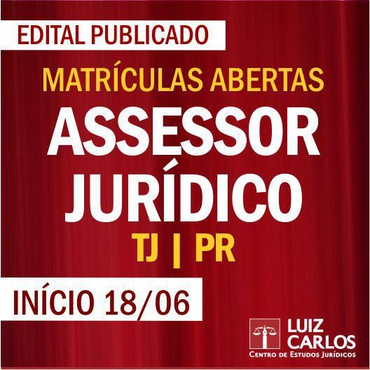 Assessor Jurídico - TJ-PR. De: R$ 1.799,00 Por: R$ 1.099,00 até 12/06. http://scup.it/2s6c