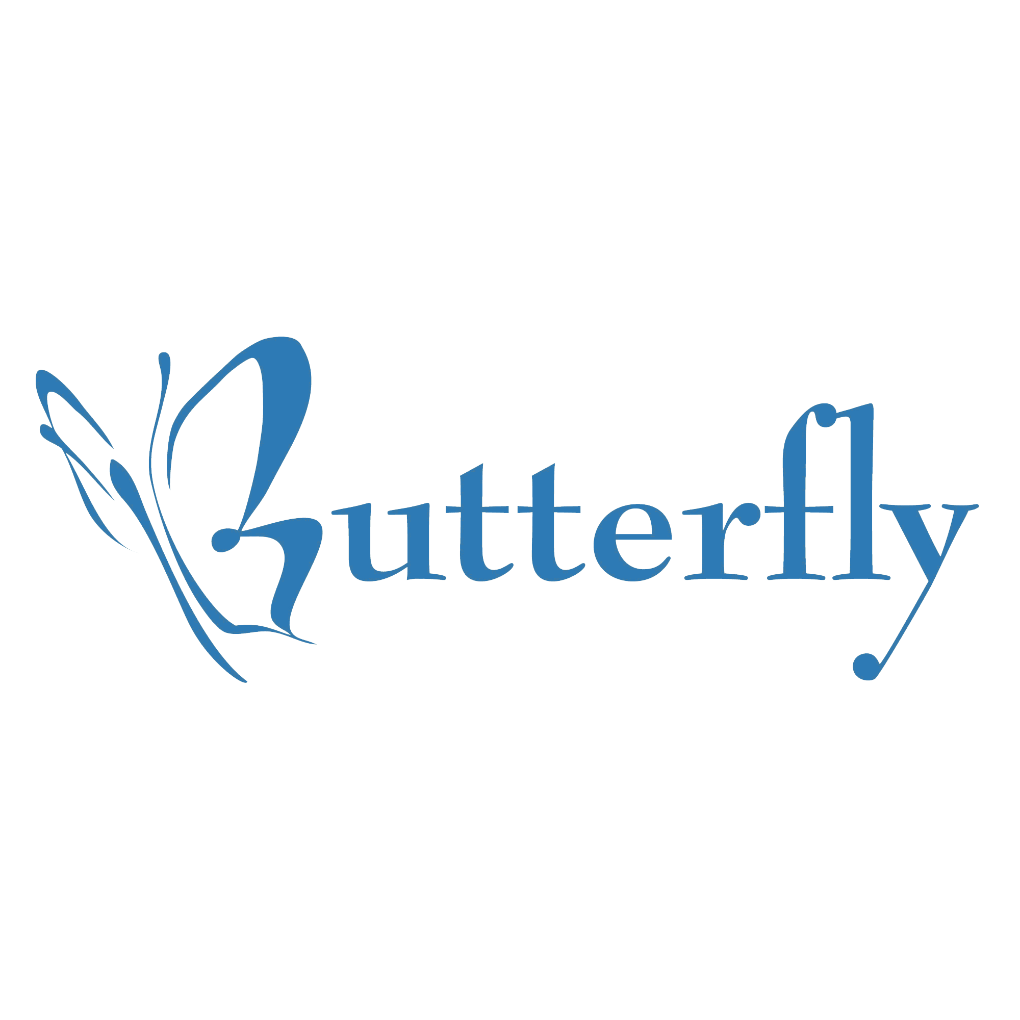 Logotype butterfly and letter b in different colour variants on a - One Half Of A Butterfly Is Used As The Letter B But The