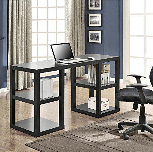 Altra Parsons Deluxe Desk Black Oak