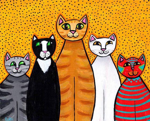 Crazy cats in da hood Print friends Duffett