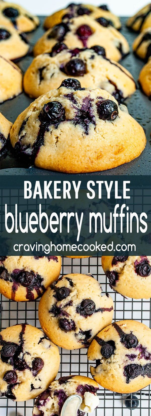 Bakery Style Blueberry Muffins - Craving Home Cooked