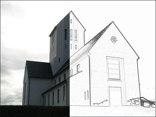 Retouche photo - Transformer une photo en dessin avec le logiciel - Logiciel Pour Dessiner Plan Maison Gratuit