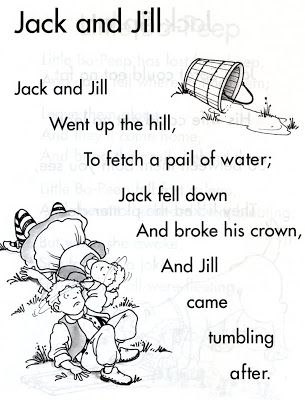 Jack And Jill Nursery Rhyme Jack And Jill Nursery Rhyme With