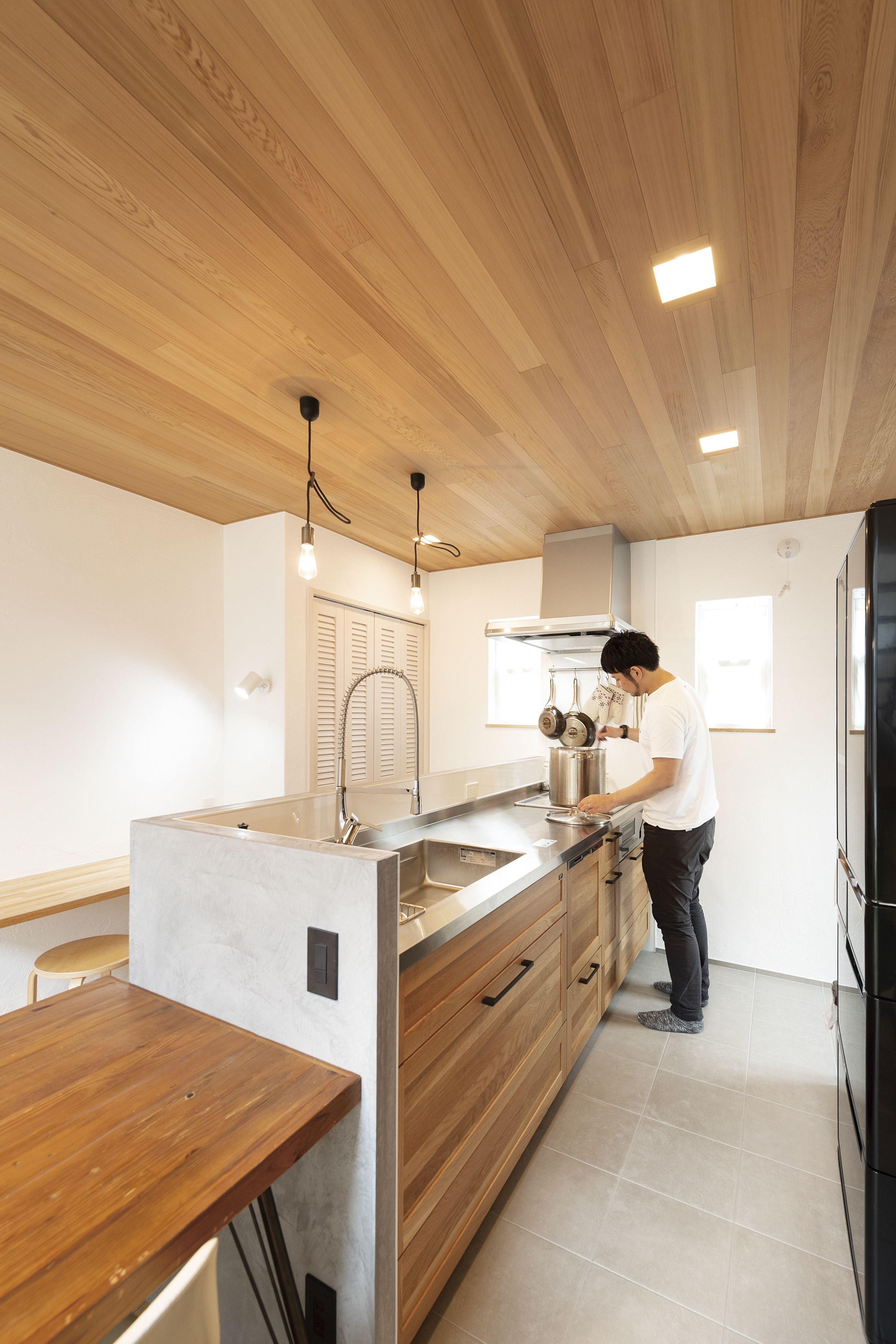 ケース107 本物素材の風合いを感じられる カッコいいお家 キッチン