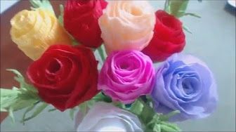 How to make paper flowers youtube pinterest how to make paper flowers youtube mightylinksfo
