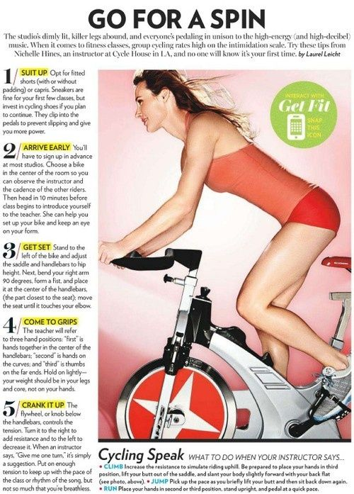 Cycling Speak Some Tips Before Your Spin Class With Images
