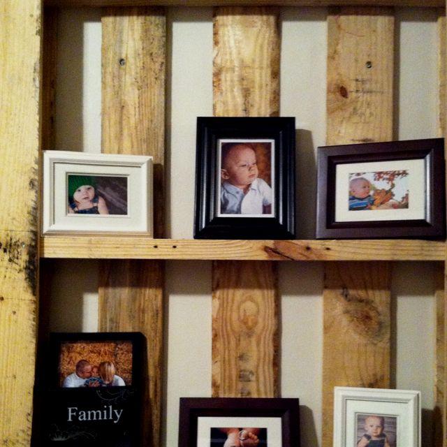 Wooden Pallet Picture Frame Holder
