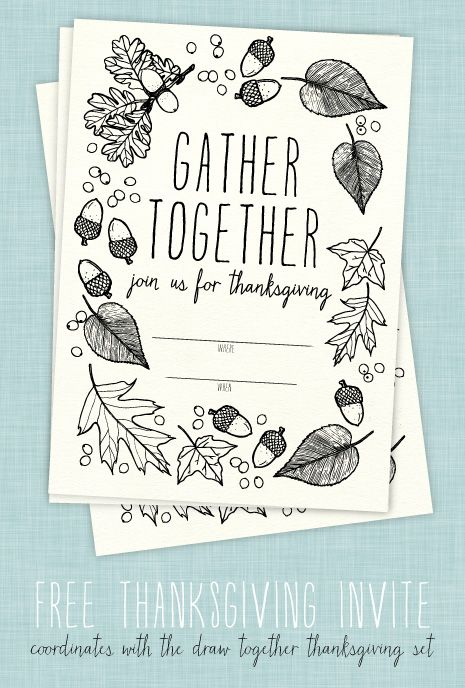 photograph about Free Printable Thanksgiving Invitations referred to as Absolutely free Printable: Thanksgiving invitation Thanksgiving