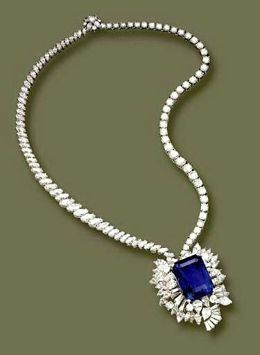 necklace p htm art deco pendant sapphire brooch platinum diamond