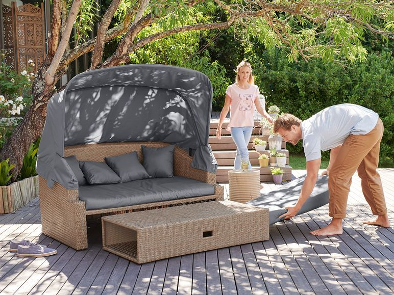 Florabest Sonnenliege 4 In 1 240 Kg Belastbarkeit Loungefunktion In Rattanoptik Lidl De Sonnenliege Aussenmobel Lounge