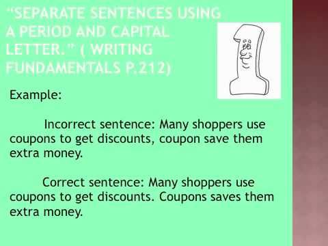 Run-on sentences and comma splices | Grammar | Pinterest | Sentences