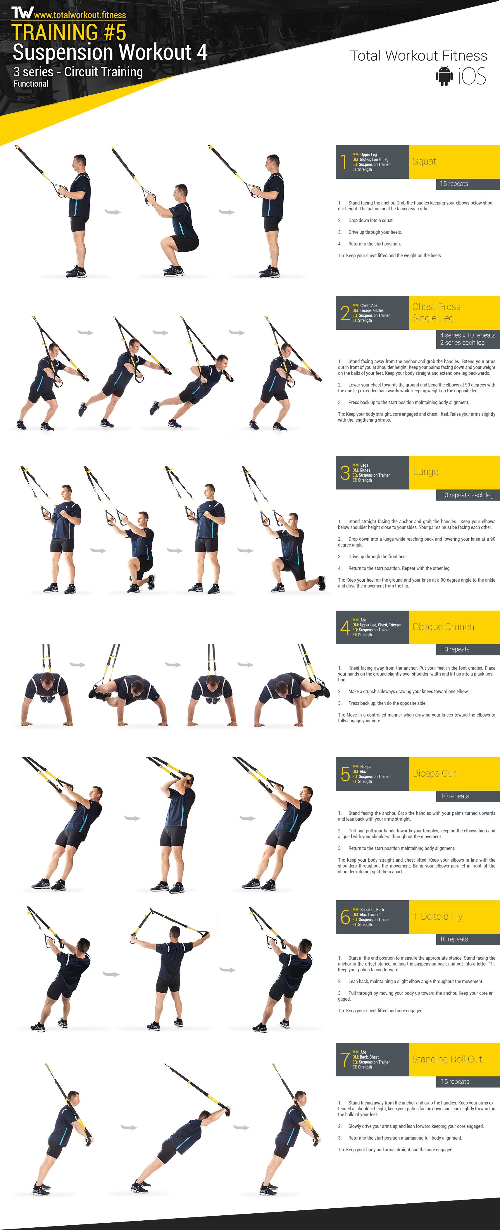 Training 5 Suspension Workout 4 Total Workout Fitness Trx Ejercicios Entrenamientos Trx Rutinas De Entrenamiento