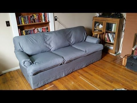 how to recover a sofa without sewing make cushions at home diy easy cheap no sew couch reupholster cover with bed sheets