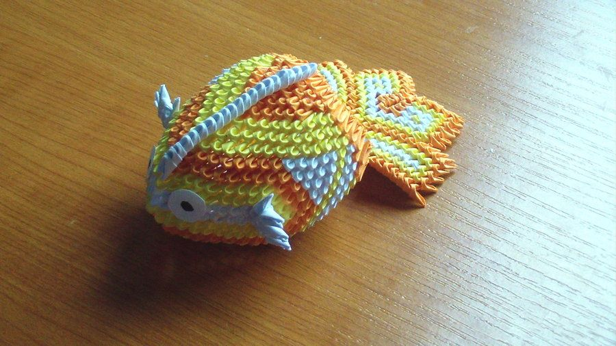 Origami mini koi fish origami 3d pinterest d crafts for Origami koi fish