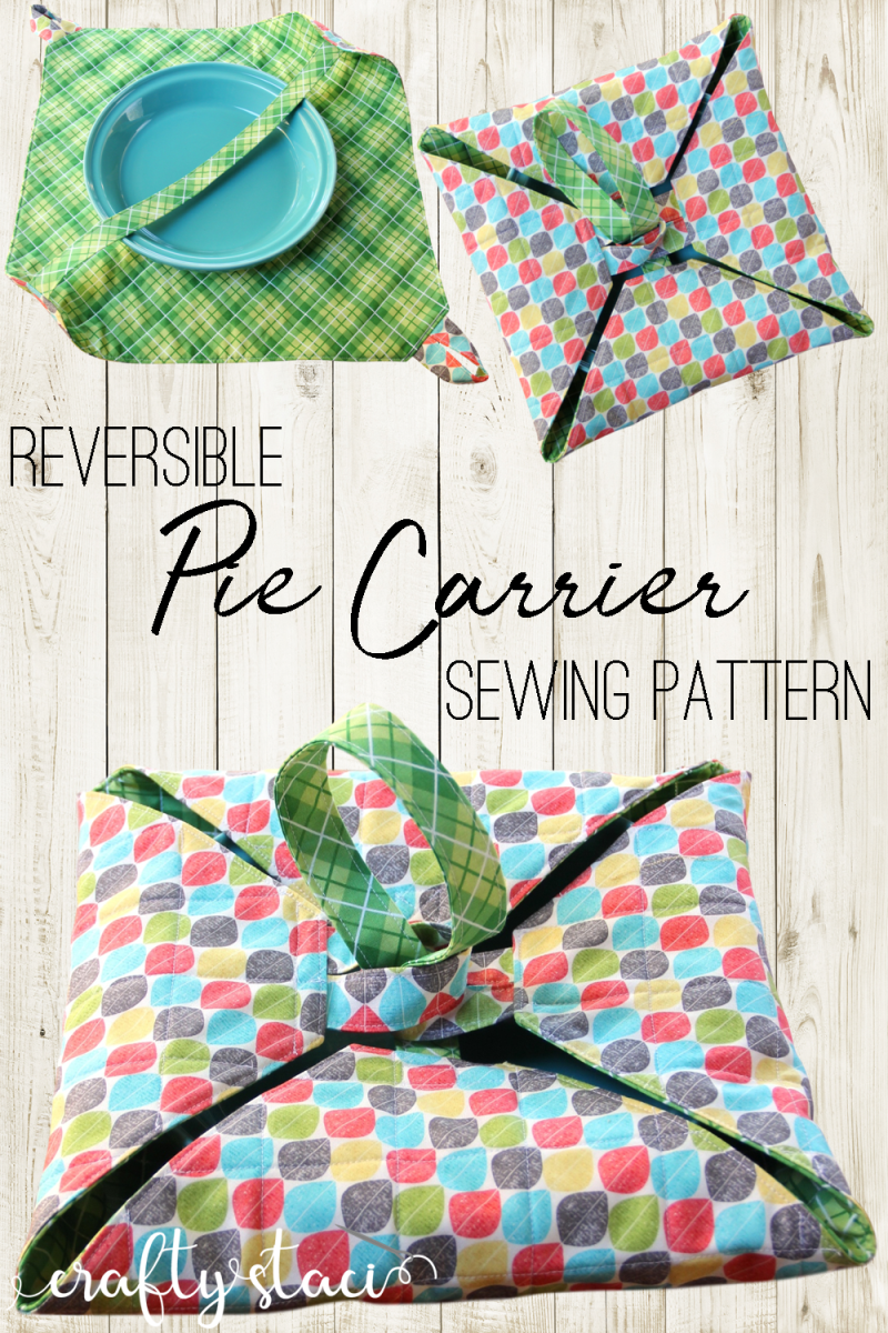 Reversible Pie Carrier Sewing Pattern - PDF download #craftstosell