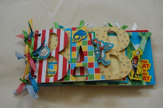 Dr Suess word album/guest book by ajzdelights on Etsy, $40.00