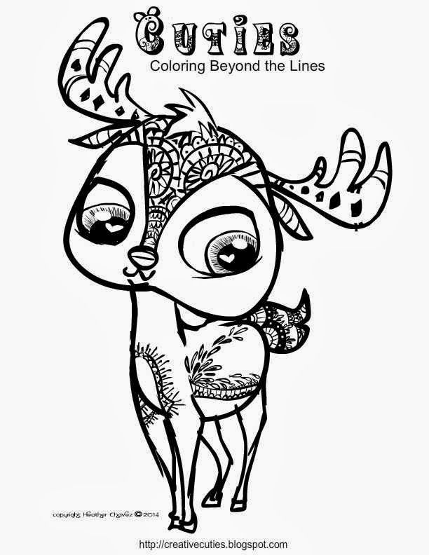 Colouring Pages Cute Disney : Creative cuties: stag coloring page pages pinterest