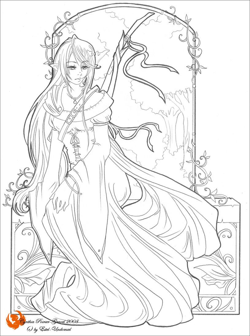A Noble Beauty Lineart Mermaid Coloring Pages Grayscale Coloring Animal Coloring Pages [ 1092 x 815 Pixel ]