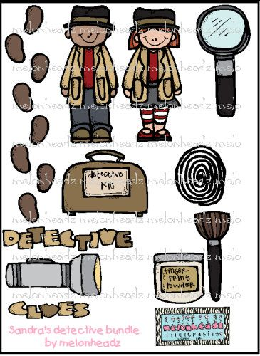 Detective Clip Art $7 | Detective/Mystery Classroom Theme ...