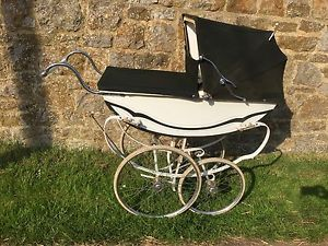 ❤My 1950 rare Fethalite Wooden-Bodied Pram Green and White❤ #11