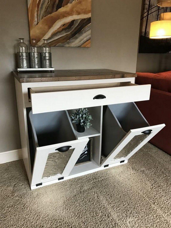 27 Wood Tilt Out Trash Can Cabinet Trash Can Cabinet Furniture Diy Patio Furniture