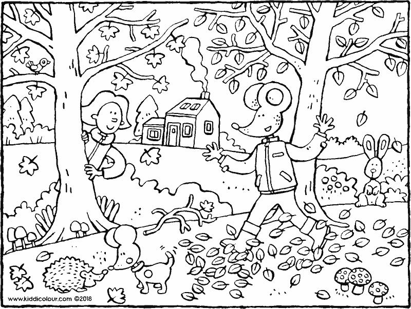 Quatang Gallery- Herfst Met Emma En Lowie Kleurplaat Kleurprent Tekening 01k Kleurplaten Voor Kinderen Kleurplaten Sprookjes