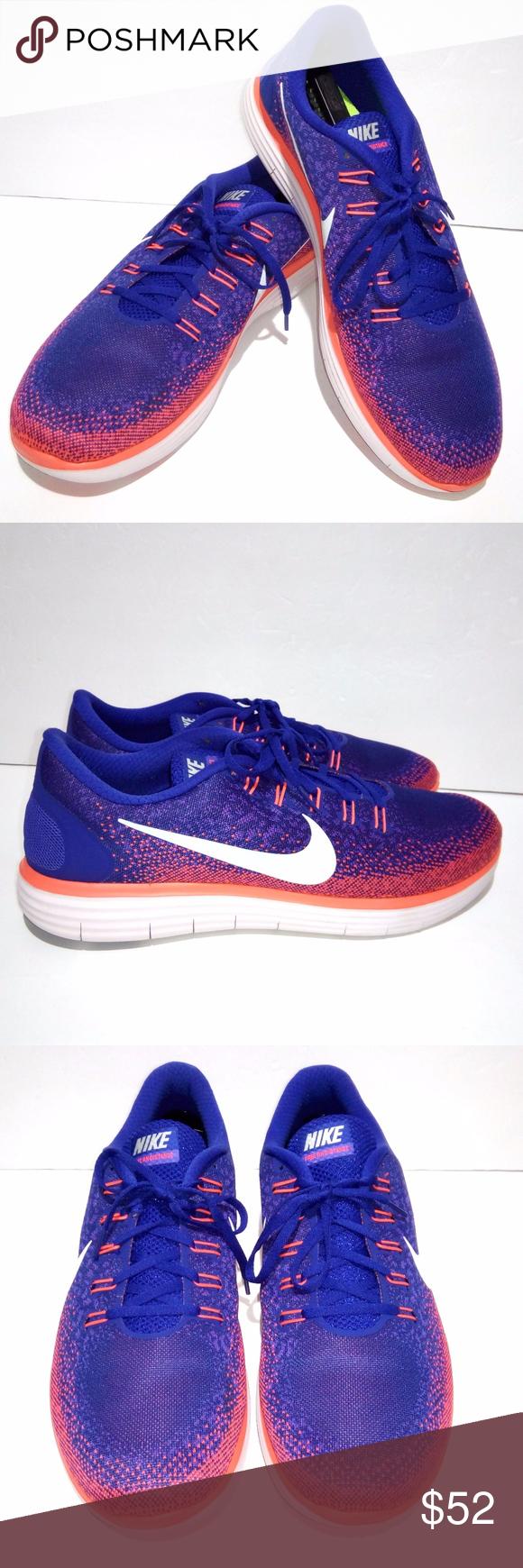986f5f9350a73 Nike Free RN Distance 14 Orange Blue Running Shoes Nike Free RN Distance  Men s Size