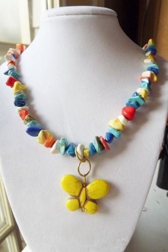 'Multi-colored Summertime Necklace' is going up for auction at  5pm Thu, Jun 7 with a starting bid of $6.