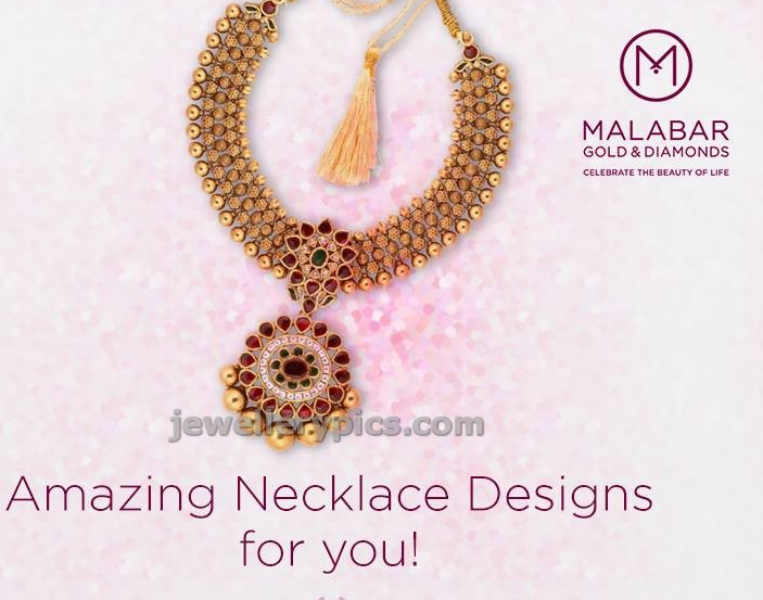 Amazing Malabar Gold necklace design - Latest Jewellery