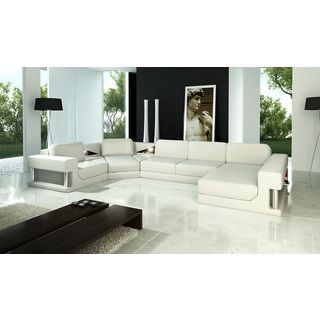 White Leather Sectional   Overstock.com Shopping - The Best Deals on Sectional Sofas