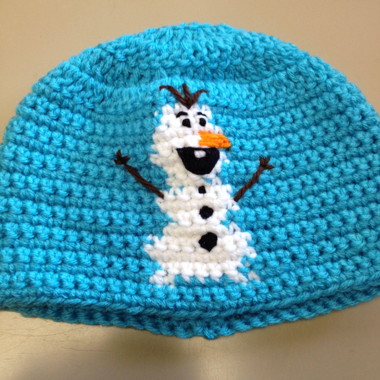 Olaf crocheted beanie by Hannah's Crazy Crochet!