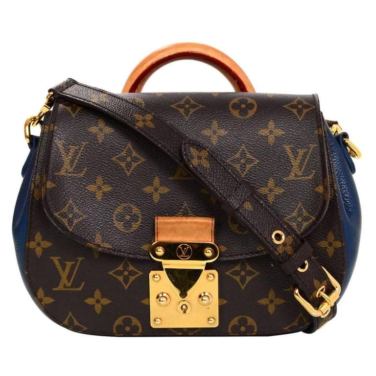 a7945f727281 Louis Vuitton Brown and Blue Monogram Eden PM Bag