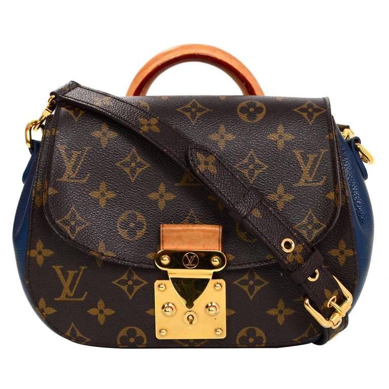 a7945f727281 Louis Vuitton Brown and Blue Monogram Eden PM Bag