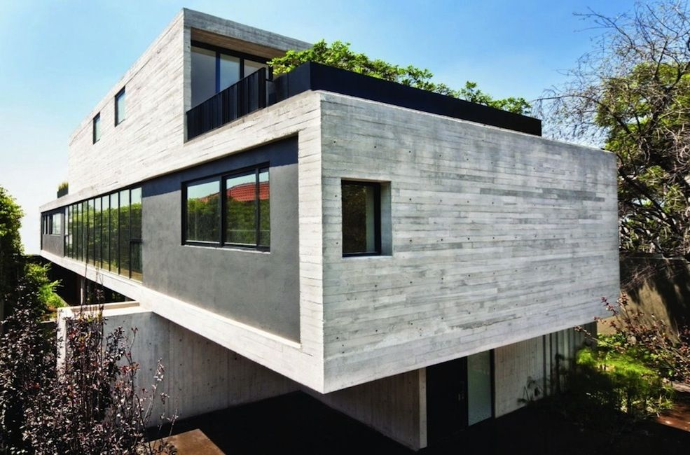 Cinder block house google search beautiful homes for Modern concrete block house plans